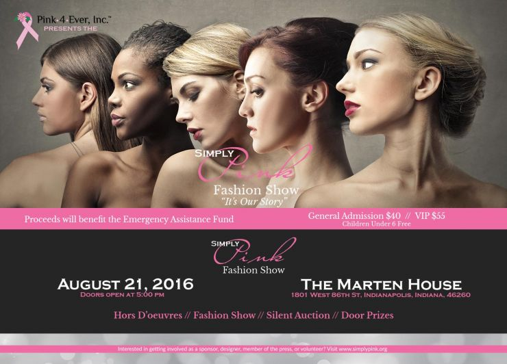 2016 Simply Pink Fashion Show postcard
