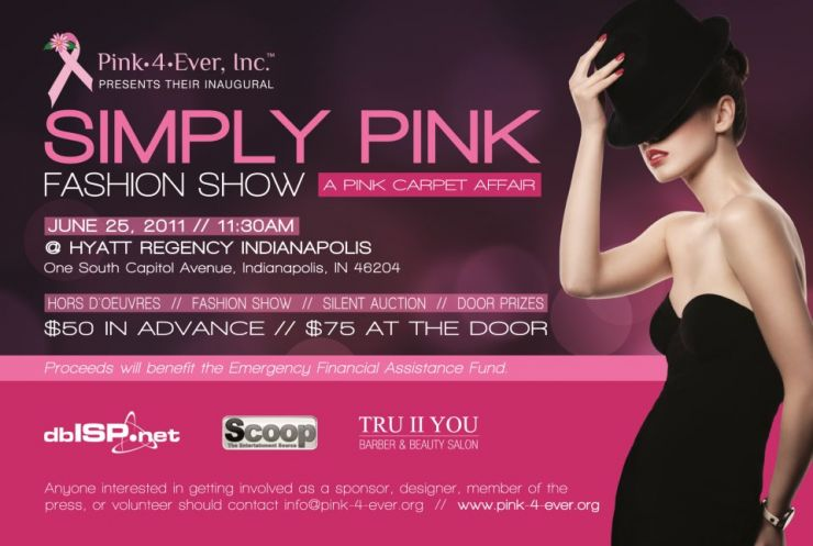 2011 Simply Pink Fashion Show post card