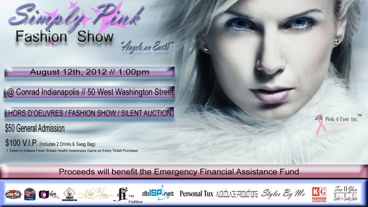 2012 Simply Pink Fashion Show post card